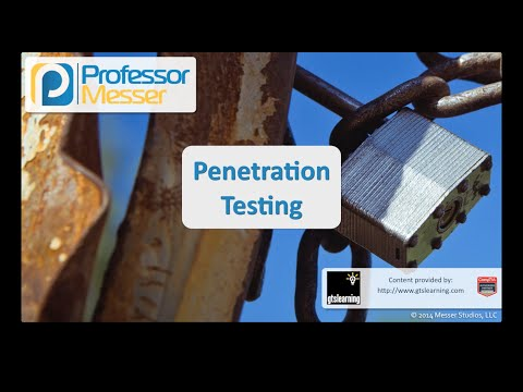 Penetration Testing - CompTIA Security+ SY0-401: 3.8