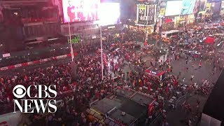 "Motorcycle backfiring sparks ""shooter"" panic in New York's Times Square"