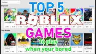5 FUN Spiele zu spielen, wenn Ihre BORED auf Roblox (Roblox)