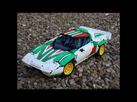 Lego Technic Lancia Stratos (V1 2 speed Alitalia Rally Livery)