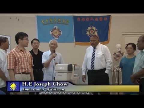 捐贈驗光機給Nauru RON hospital