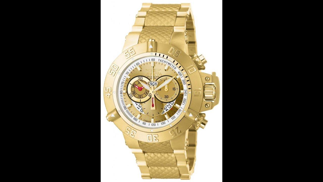 dd8157b3789 Relógio Invicta Subaqua Noma 3 Iii 5403 Plaque Ouro 50MM Grande Suiço