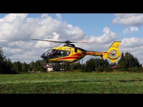 Helikopter LPR zabrał poszkodowanego mężczyznę z Hermanowa