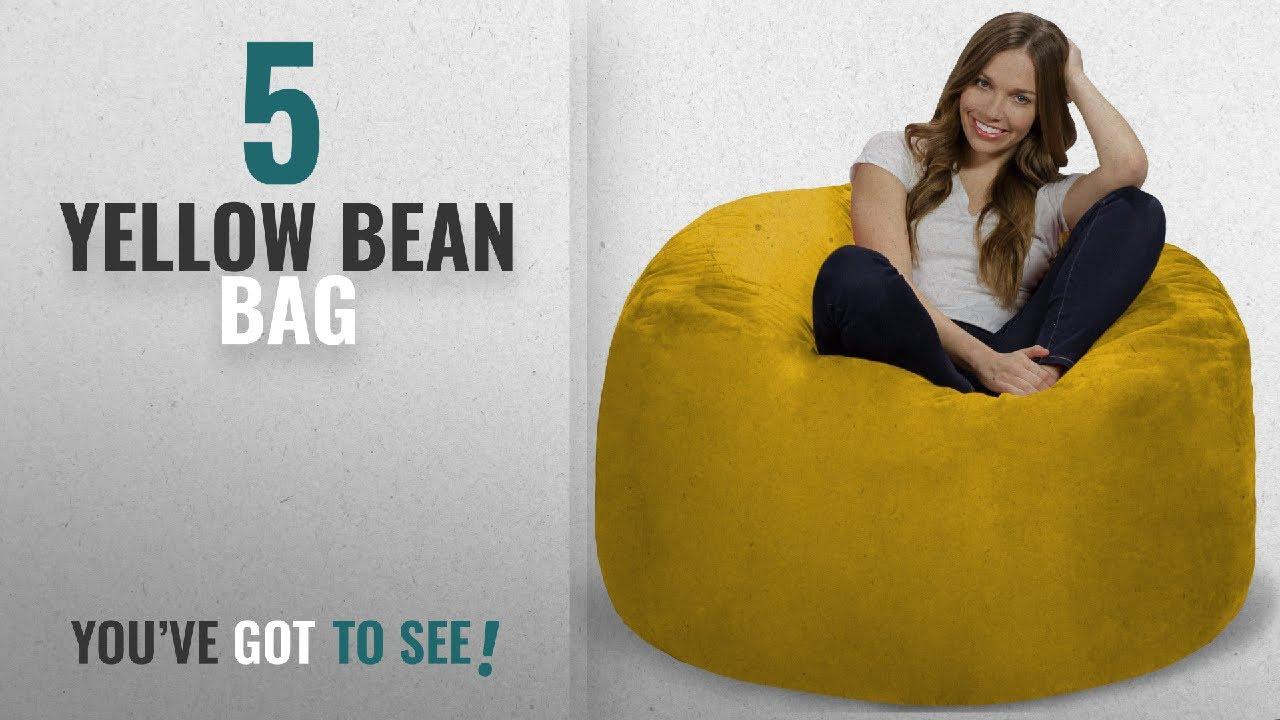 Top 10 Yellow Bean Bag [2018]: Chill Sack Bean Bag Chair: Giant 4' Memory  Foam Furniture Bean Bag -