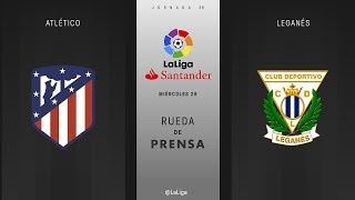Rueda de prensa Atlético vs Leganés