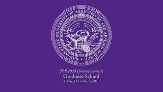 Graduate School | Fall Commencement 2018