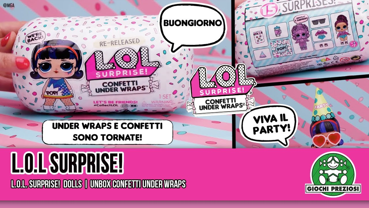 Giochi Preziosi | Unboxing L.O.L. Surprise! Confetti Under Wraps
