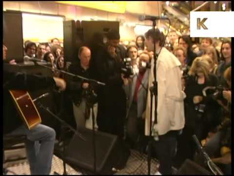 1990s Oasis, In store Performance, Liam Gallagher Storms Out, Archive Footage