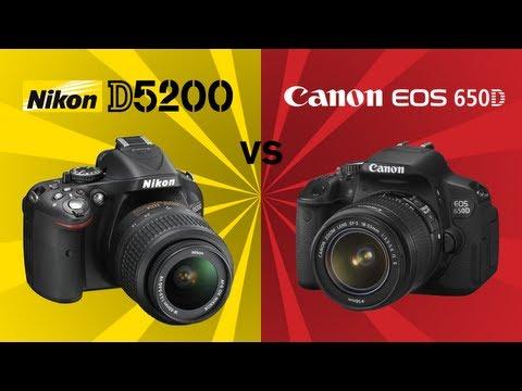 Nikon D5200 vs Canon 650D (Rebel T4i)