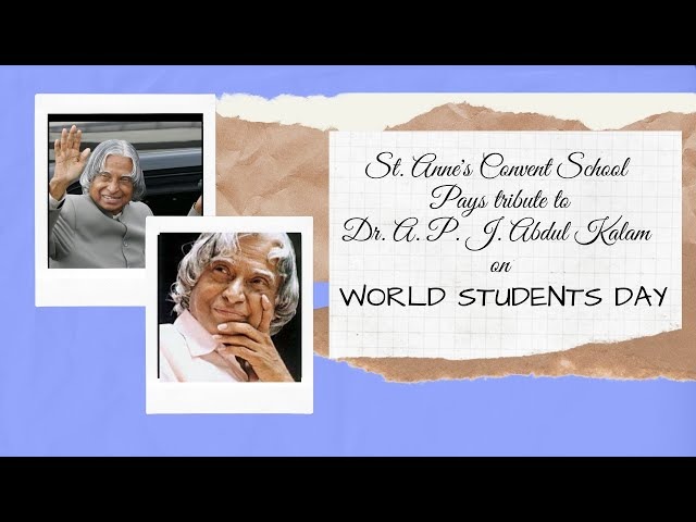 Tribute to Dr. A P J Abdul Kalam