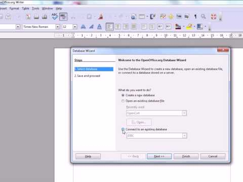Using MySQL As A Source For Mail Merge In Open Office