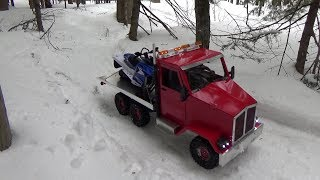 Rc truck 6x6 adventure with rc snowmobile yamaha sr viper BRUSHLESS.