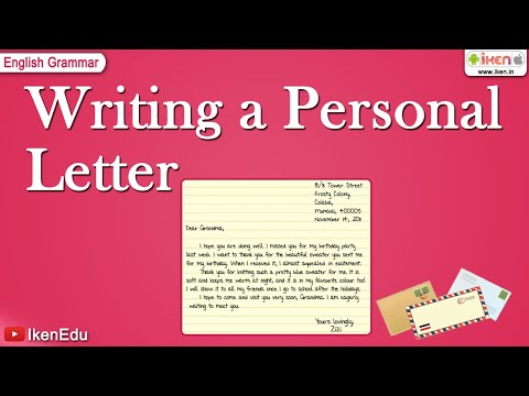 Writing a Personal Letter YouTube