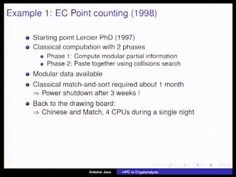 A Tutorial on High Performance Computing Applied to Cryp ...