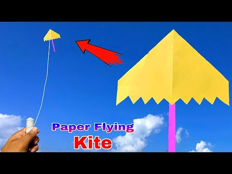 A4 size paper flying kite, how to make a4 flying kite, making easy paper kite