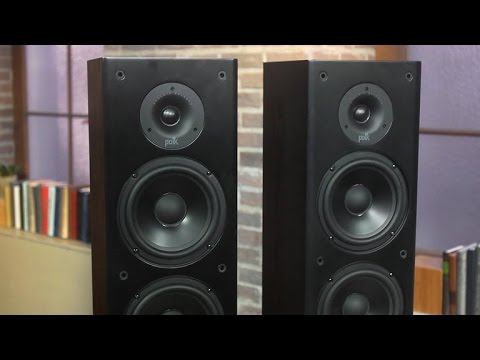 how to set up polk t50 speakers to older amplifier