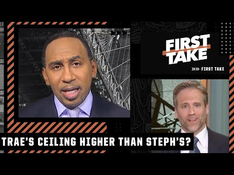 Max Kellerman on First Take: Trae Young is Steph Curry but in the playoffs, he elevates. Trae Young's ceiling is higher (than Steph Curry) when it counts.
