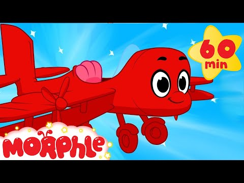 My Red Airplane (+ 1 hour Morphle Mega Vehicle compilation for kids!)