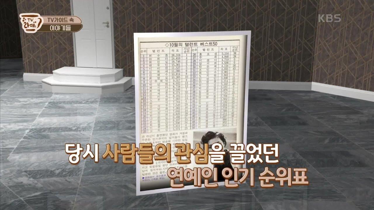 연예인들의 순위를 알려주는 인기 순위표?! [TV라떼는] 20200930