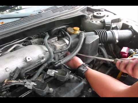 2002 Nissan Altima Misfire Start P0507 Bad IDLE part3 - YouTube