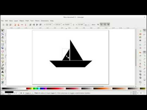 hqdefault drawing a simple boat shape using inkscape youtube simple boat diagram at gsmx.co