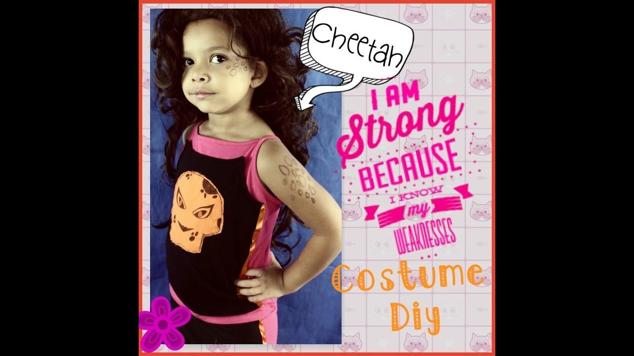how to make a DIY DC superhero girls Cheetah costume  sc 1 st  YouTube & how to make a DIY DC superhero girls Cheetah costume - YouTube