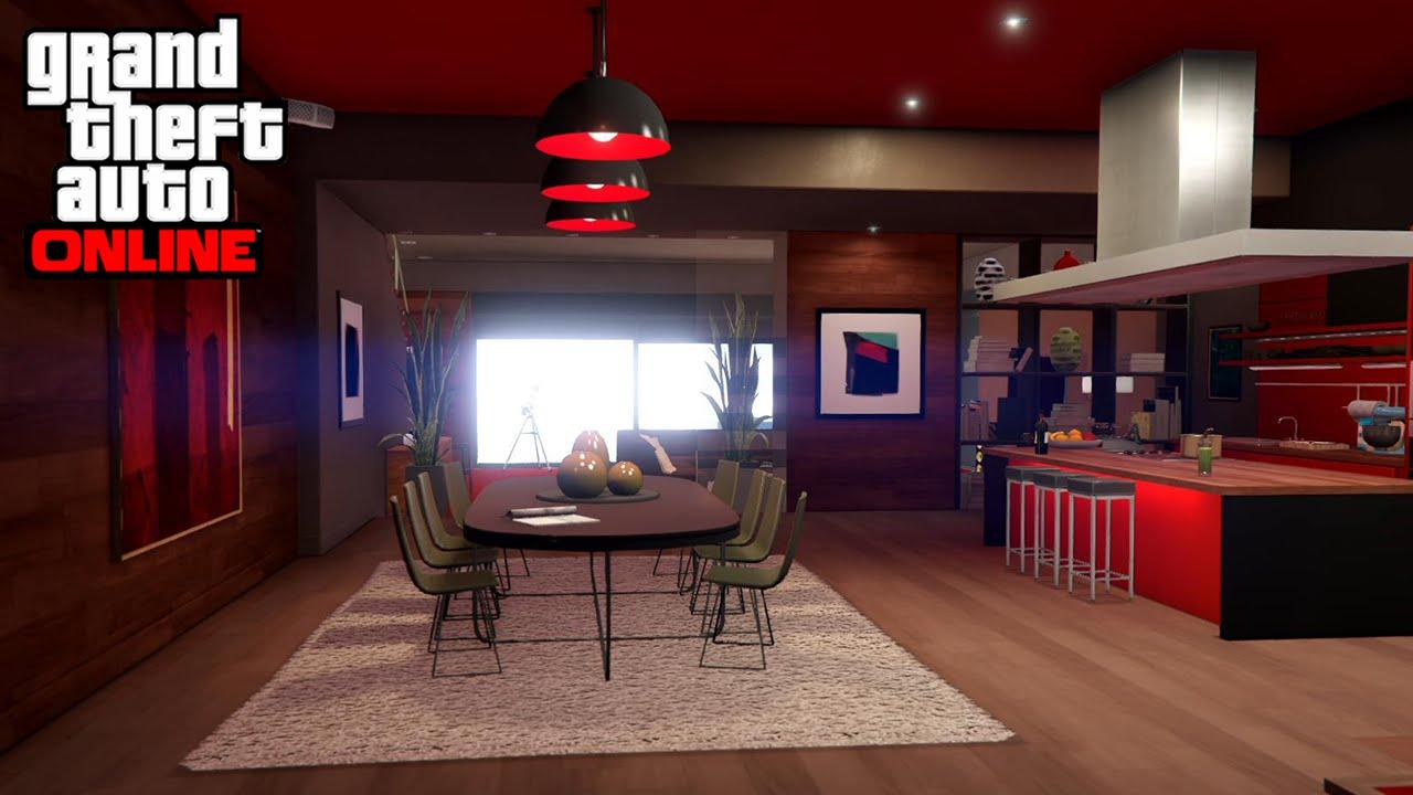 cuisine moderne rouge et noir