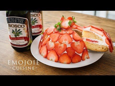 eggless-strawberry-shortcake-recipe-卵と生クリームを使わない苺のショートケーキの作り方