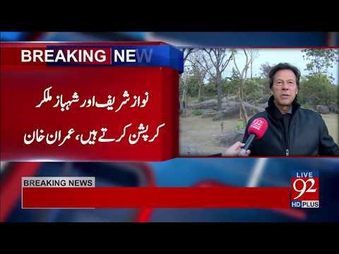 No Difference Between Nawaz Sharif And Asif Zardari : Imran Khan
