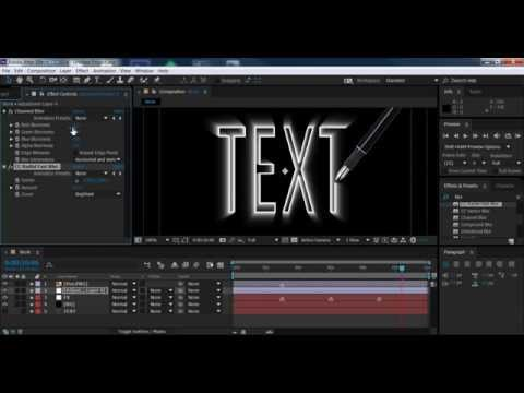 3D text tutorial Adobe After Effects CC 2014