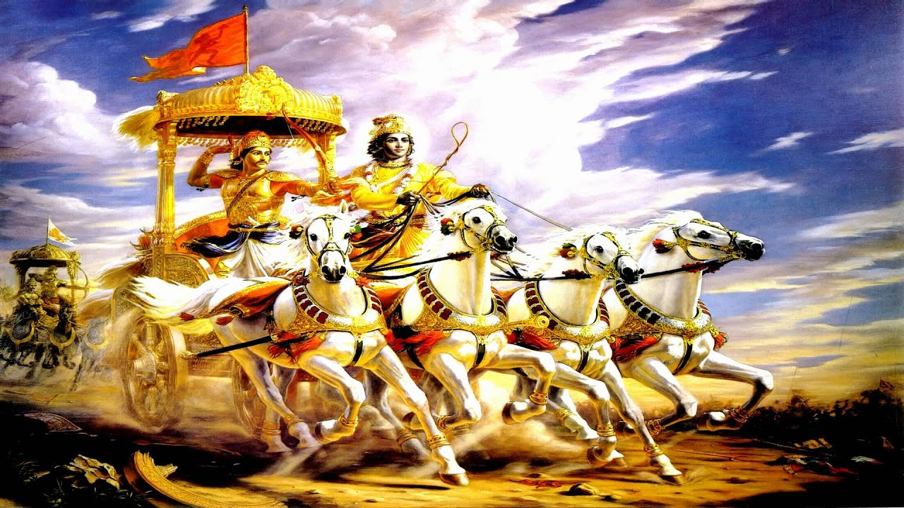 Free Hd Hindu God Wallpapers Bhagavad Gita Chapter 01 Observing The Armies On The