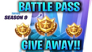 FORTNITE BATTLE PASS GIVEAWAY!! //SEASON 9//That_ Tyler21//Come Join The HVG PRIDE!