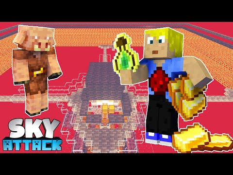 RIESIGE Gold/XP Farm + Piglin Trader FERTIG! - Minecraft SKY ATTACK #42