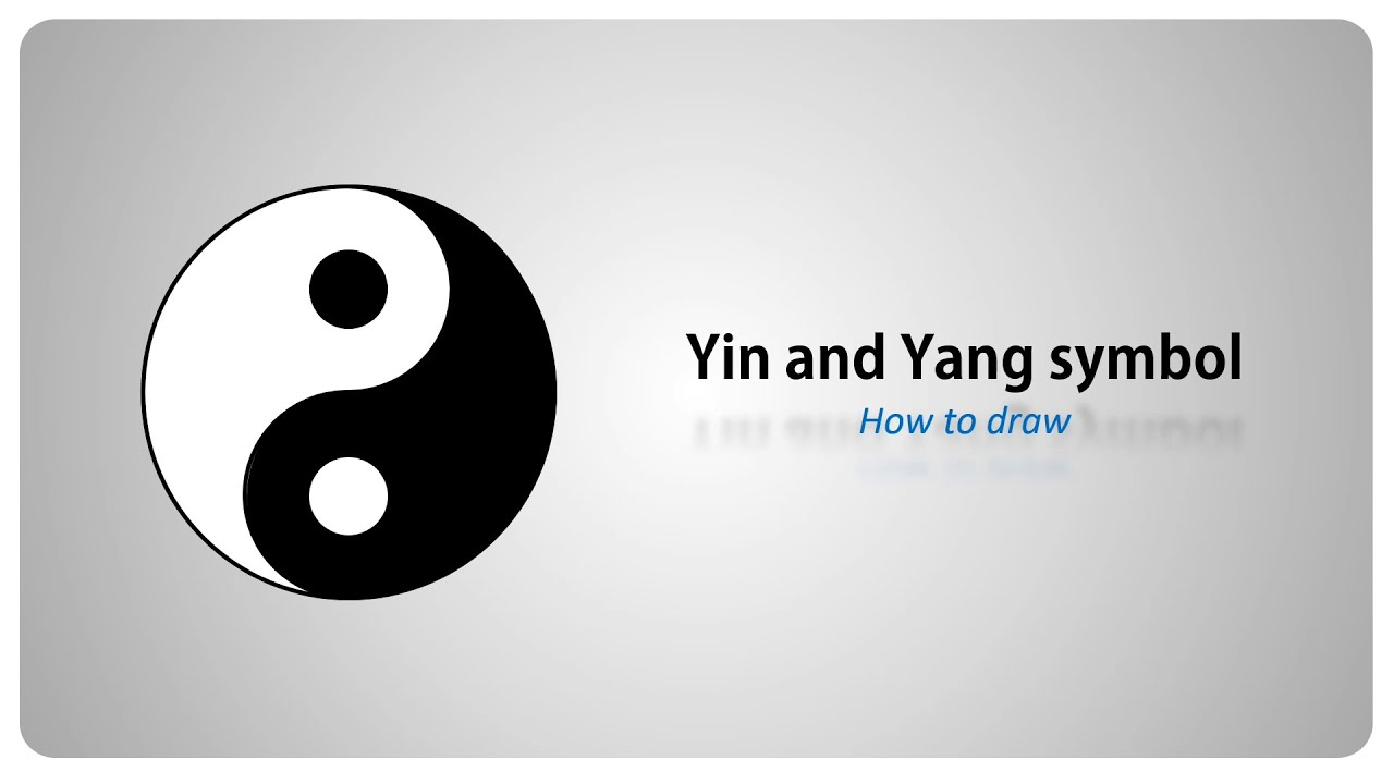 How To Draw Yin And Yang Symbol Step By Step Tutorial English