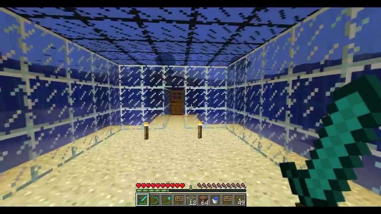 Minecraft How To Build An Underwater House Tutorial Youtube