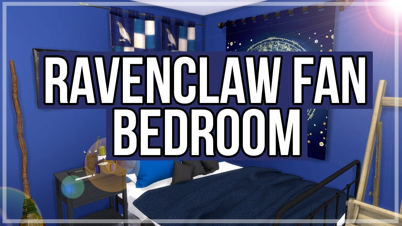 The Sims 4 Room Build Ravenclaw Fan Bedroom Youtube