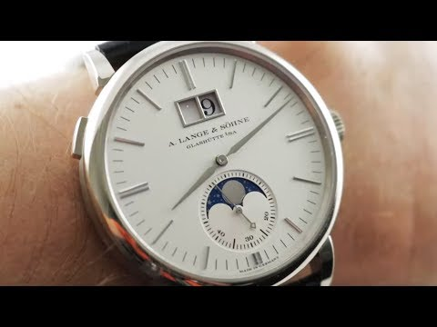 A. Lange & Sohne Saxonia Moon Phase (384.026) Luxury Watch Review