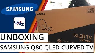 Samsung Q8C 4K HDR QLED TV Unboxing & Setup