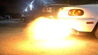 BIGGEST MIATA FLAMES EVER!!!