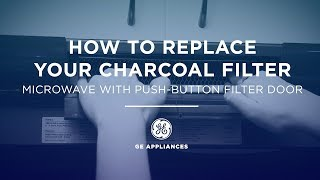 Learn how to replace the Charcoal Filter in your GE Appliances Microwave. Demonstration is specifically for microwaves with a push button filter door.