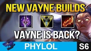 3 NEW VAYNE BUILDS - Ghostblade, Trinity Force, Rageblade? (League of Legends)