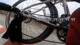 국토종주 중 자전거에 라파가 끼었을 때 오리왕의 반응 …