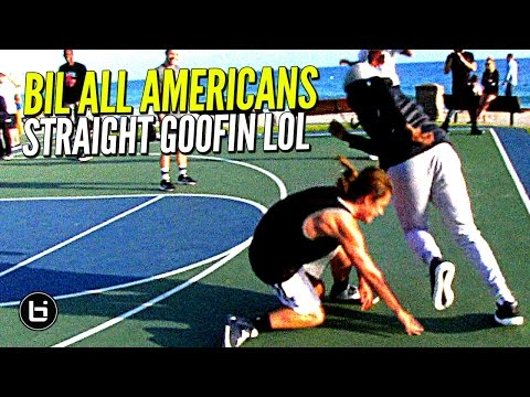 All American Players vs Clueless Randoms at The Beach!! Straight GOOFIN!
