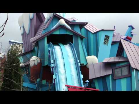 Dudley Do-Right's Ripsaw Falls exterior look after the 2011 rehab