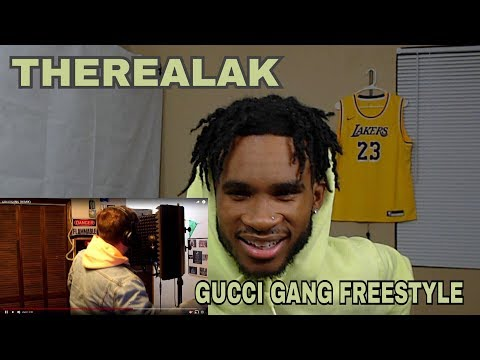 THEREALAK - GUCCI GANG REMIX | REACTION VIDEO