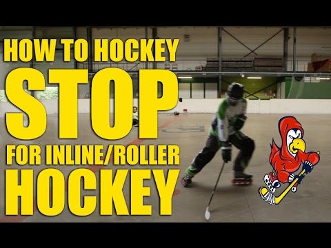 How To Hockey Stop On Inline, Roller Hockey Skates