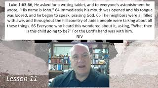 Luke 1:63-66 Lesson 11 January 18, 2021