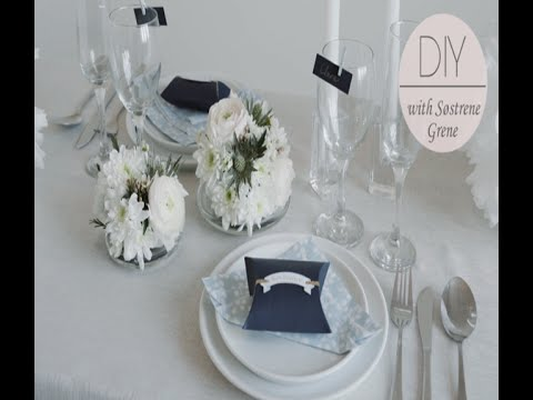 How to make a table setting arrangement with flowers by Søstrene ...