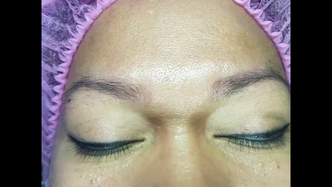 Microblading By Spa Shalvah San Diego Covering Old Tattoo Brows