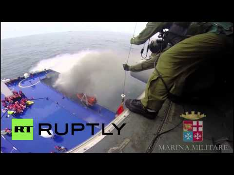 Albania: See passengers get rescued from blazing ferry